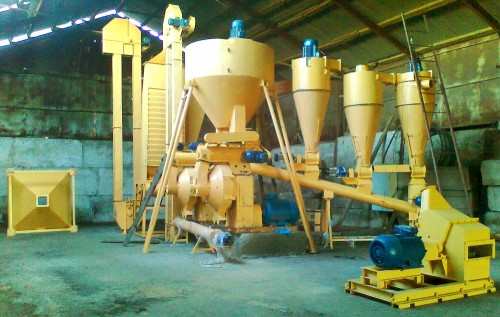 Complexes of Sunflower Husk Pelletizing Line